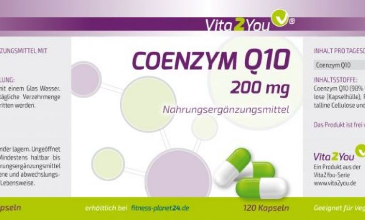 Coenzym Q10 – 200mg – 120 Kapseln – 98% Ubichinon