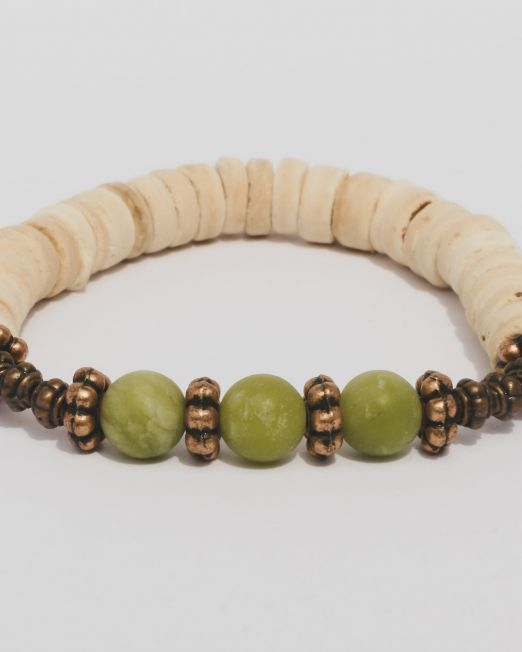 Jade Kokos Kupferarmband 2